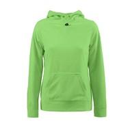 Fleece hoodie vrouwen limoen