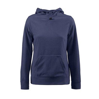 Fleece hoodie vrouwen marine