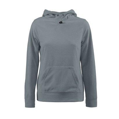 Fleece hoodie vrouwen metaalgrijs