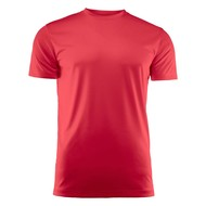 T-shirt heren polyester rood
