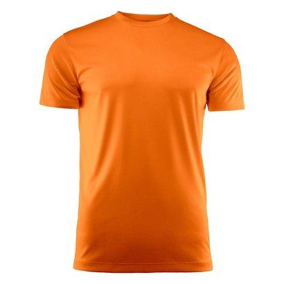 Geocaching T-shirt heren polyester fel oranje