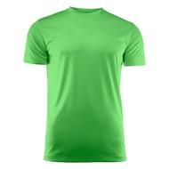 Geocaching T-shirt heren polyester limoen