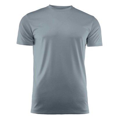 T-shirt heren polyester staalgrijs