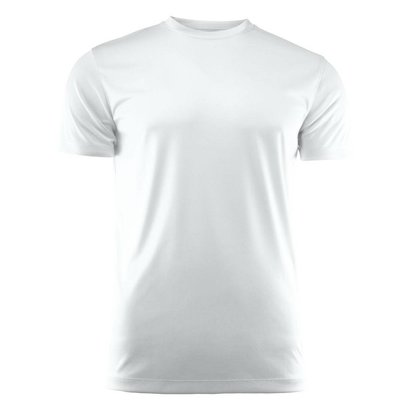 T-shirt heren polyester wit