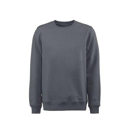 Sweater ronde hals heren staalgrijs