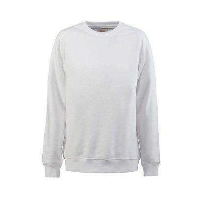Sweater ronde hals heren wit