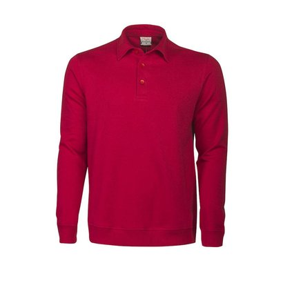 Polosweater heren rood