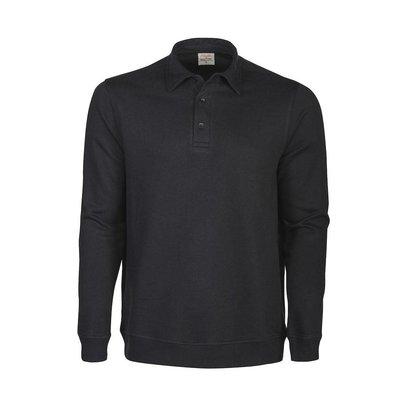 Polosweater heren zwart