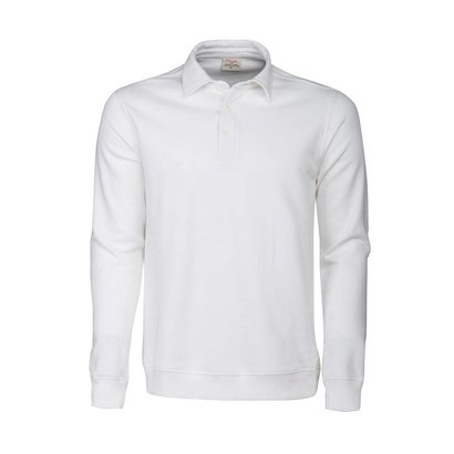 Polosweater heren wit