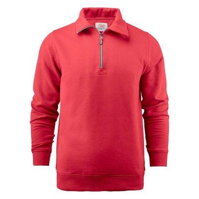 Sweater met rits heren rood
