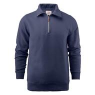 Sweater met rits heren marine
