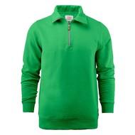 Sweater met rits heren frisgroen