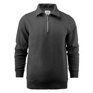 Sweater met rits heren zwart