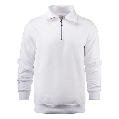 Sweater met rits heren wit