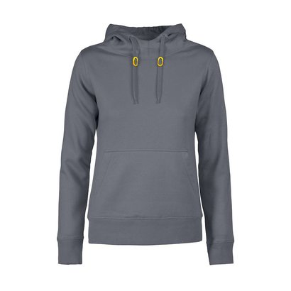 Hoodie Fastpitch dames  staalgrijs
