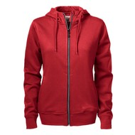 Hooded jacket dames rood