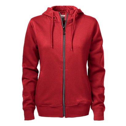 Hooded jacket dames rood
