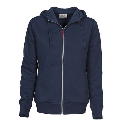 Hooded jacket dames marine