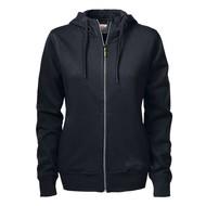 Hooded jacket dames  zwart