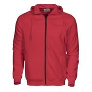 Hooded jacket heren rood