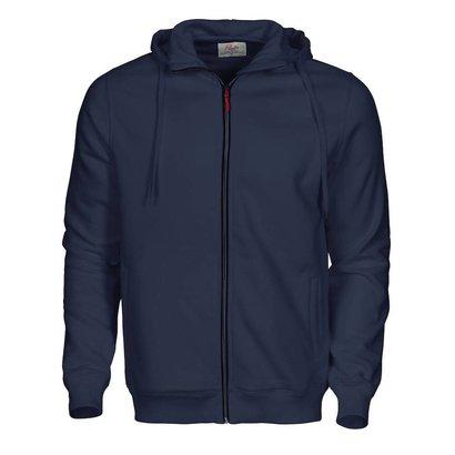 Hooded jacket heren marine
