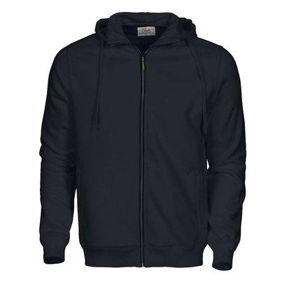 Hooded jacket heren zwart