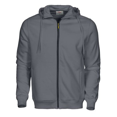 Hooded jacket  heren staalgrijs