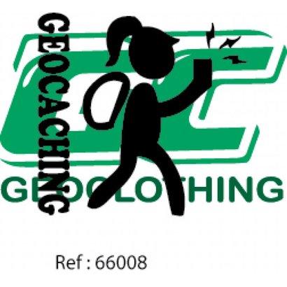 Geocaching hiking girl