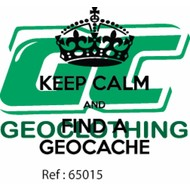 Keep  calm and find a geocache