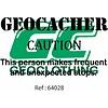 Geocacher caution