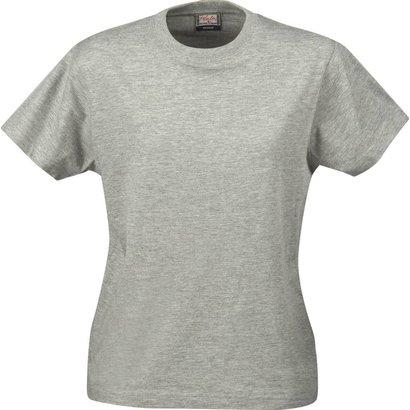 t-shirt voor dames met ronde hals grijsmelee