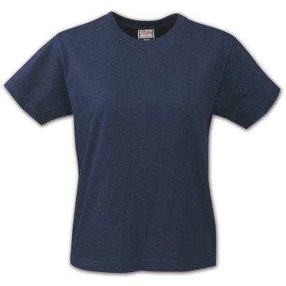 t-shirt voor dames met ronde hals marine