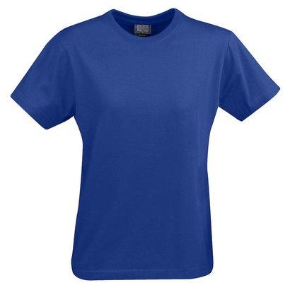t-shirt voor dames met ronde hals blauw