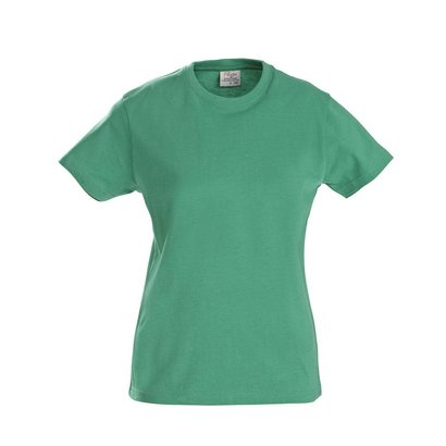 t-shirt voor dames met ronde hals frisgroen