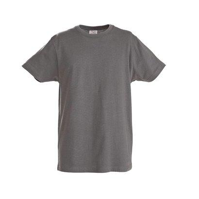 t-shirt heren  met ronde hals staalgrijs