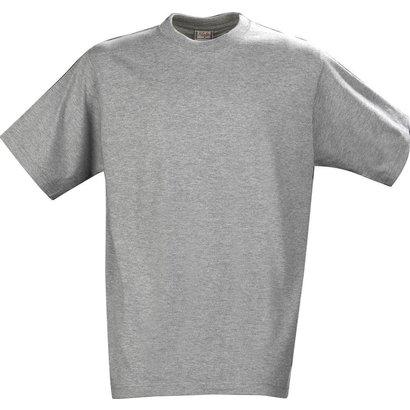 katoenen t-shirt voor kids grijsmelee