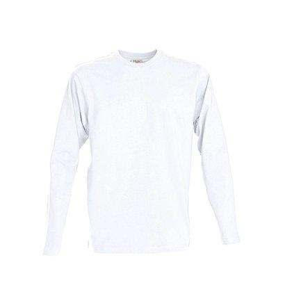 t-shirt met lange mouwen voor mannen wit