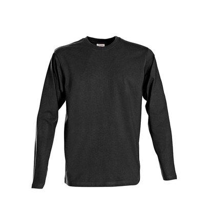 t-shirt met lange mouwen voor mannen zwart