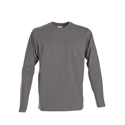 t-shirt met lange mouwen voor mannen staalgrijs