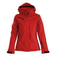 Softshell skeleton dames rood