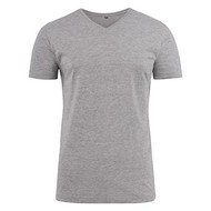 v-neck t-shirt heren grey
