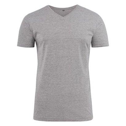 v-neck t-shirt heren grey