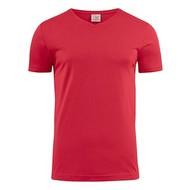Geocaching v-neck t-shirt heren rood
