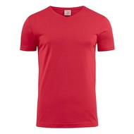 v-neck t-shirt heren rood