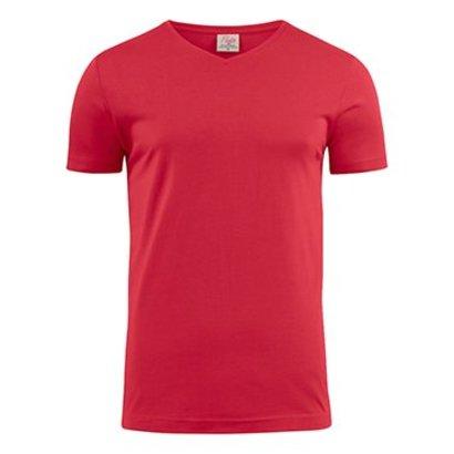 v-neck t-shirt heren rood