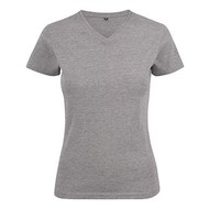 v-neck t-shirt dames grey