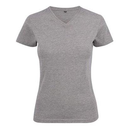 Geocaching v-neck t-shirt dames grey
