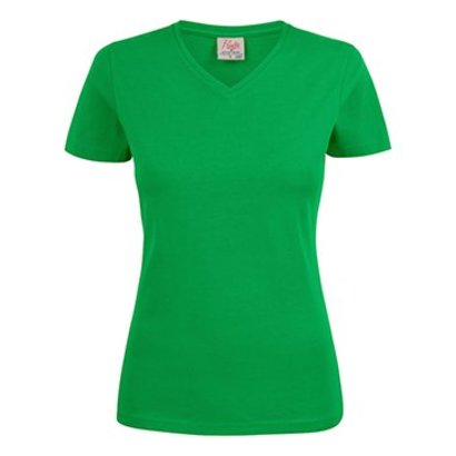 Geocaching v-neck t-shirt dames frisgroen