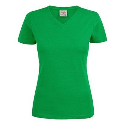 v-hals t-shirt voor dames frisgroen