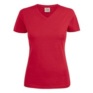 v-neck t-shirt dames rood